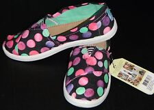 Tom's Girl's Youth Black Canvas Confetti Shoes Multi-Color Slip-on Size 5.5 New