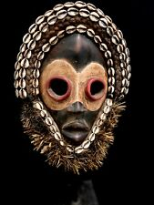 Dan Mask Deangle Cowry Shells Liberia African Art (1380)