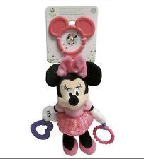 """Minnie Mouse Disney Baby Activity Toy Sensory Crinkle Plush Doll Teether 8"""" Big"""