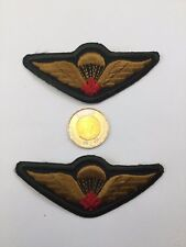 2 Canadian Airborne Army Parachutist  Shoulder Flashes Green Patches Red Canada