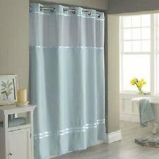 "Hookless Fabric Shower Curtain & Liner Set Seafoam Blue Escape 71"" x 86"" Long"