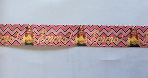 Emma The Wiggles Ribbon 7/8 inch and 22mm wide 1m long Chevron