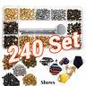 6mm/8mm Snap Buttons Press Stud Leather Cloth Rapid Rivet Fastener Kit Set