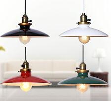 New Ceiling Retro Vintage Pendant Light Colorful Metal Finish Lampshade