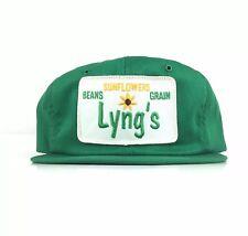Vtg Lyng's Sunflower Beans Grains K Brand K Products Baseball Cap Hat Men's USA
