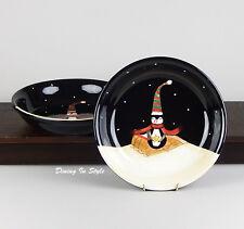2 Soup / Pasta Bowls, SUPERB-NEAR MINT Midnight Penguin, Certified International