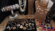 HUGE LOT Vintage HIGH END Fine Costume Jewelry GORGEOUS JEWELS, Rhinestones LQQK