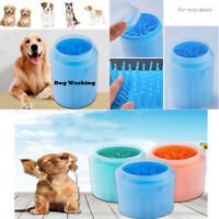 1x Portable Dog Paw Cleaner Pet Cleaning Brush Cup Dog Foot Cleaner Feet Washer