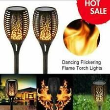 12 LED Solar Light Outdoor Waterproof Flickering Flame Solar Path Garden Lights