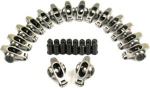 """Stainless Steel Roller Rocker Arms 1.7 Ratio 7/16"""" Studs Chevy 396 402 454 BBC"""