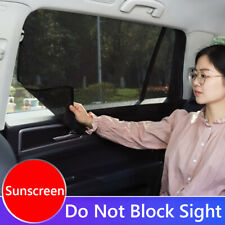 Magnetic Car Window Sun Shade UV Protection Mesh Front+Rear Side Window Curtain