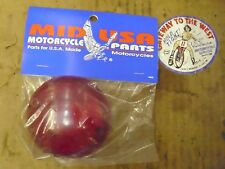 MID-USA, BULLET TURN SIGNAL LENS RED,FL 63-85, FX 71-73, REPL H-D #68570-63.#
