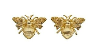 9ct Gold Bee Earrings Stud In Yellow Gold Hallmark Elements Gold GE2339