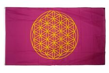 Fahne Blume des Lebens Flagge  Hissflagge 90x150cm