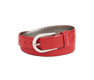 DKNY | Puffed Logo Belt | Red