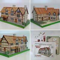 SHAKESPEARES SHAKESPEARE'S BIRTHPLACE FULL COLOUR A5 CARD CUT OUT MODEL KIT