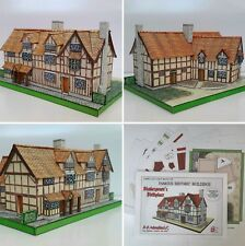 SHAKESPEARE'S BIRTHPLACE FULL COLOUR A5 CARD CUT OUT MODEL KIT
