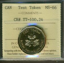 Canada Test Token CH# TT-100.24 ICCS Certified MS-66