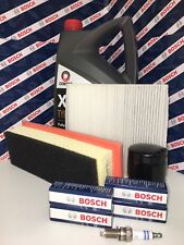 FIAT 500 1.2i SERVICE KIT OIL AIR POLLEN FILTER BOSCH PLUGS ENGINE OIL