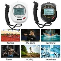 Professional Handheld Digital Stopwatch Chronograph Sports Training Timer Watch