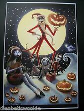 Nightmare Before Christmas Jack Sally Burton Art print movie poster Santa Clause