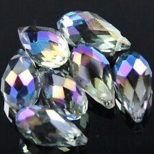 4pcs 10X20mm Swarovskl Teardrop  crystal beads B Purple plated