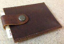 London Design Boho Style - Leather Cow Hide Business Card Holder