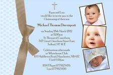 10 Personalised Photo Christening Invitations Boy Design 5