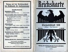 Karte, Einheitsblatt Nr. 109. Gießen - Bad Nauheim, einfarbig, 1:100 000, 1932,