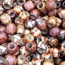 TAMBURO in Legno Anello ASSORTITI Perline in Legno 16x17mm Pk25 W145 CILINDRO