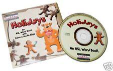 American Sign Language Holidays Asl Word Book & Videos