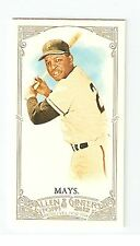 2012 Topps Allen and Ginter Willie Mays #210 Mini card