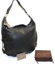 Authentic REBECCA MINKOFF Black Leather Hobo Handbag NWT