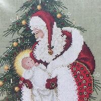 Lavender and Lace SONG OF CHRISTMAS L&L46 New Chart Santa Jesus Angels Tree