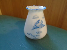 HAPPY DAYS AT TORCROSS - BIRD PICTURE CRINKLE TOP VASE - DEVONIA CRESTED CHINA
