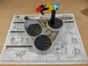 Power Rangers Ninja Storm Green Samurai Action Playset Base Missile Launcher |A5