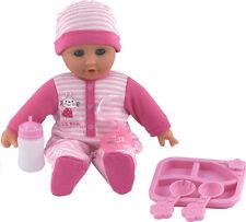 Dolls World Baby Phoebe Talking Giggling Crying Doll & Bottle Girls Toys New