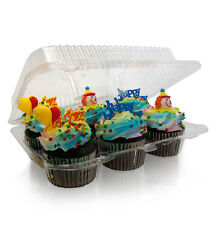 12 pieces 6 Compartment Cupcake Cake Case Muffin Holder Box Container Carrier