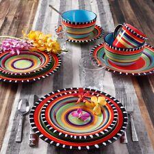 Discount Dinnerware Sets Service For 4 Round 16 Piece Dish Mediterranean Espana