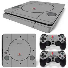 Sony PS4 Playstation 4 Slim Skin Aufkleber Schutzfolie Set - Retro PSOne 2 Motiv