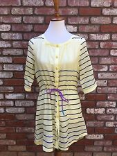 Helly Hansen Yellow Striped Tunic Cover-Up Size Small