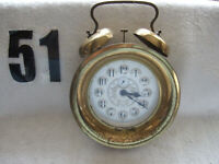 Rare,Large, Vintage Made In Western Germany (50's-60's) Wind Up Alarm Clock With