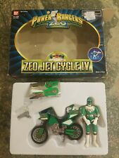 Bandai Mighty Morphin Power Rangers Green Zeo Jet Cycle IV 1996 IOB RARE