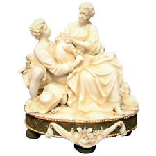 19th Century Porzellanfabrik E.& A. Müller Porcelain Cpurting CoupleFigurines