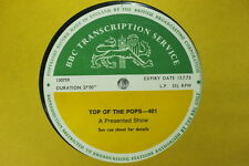 BBC 401 Transcription Disc TOP of POPS Live FREE PAUL MCCARTNEY WINGS THE WHO