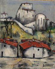 Tableau 1961 Barré-Arnaud Vue de Village