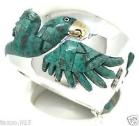 TAXCO MEXICAN 950 STERLING SILVER PARROT BRACELET MEXICO