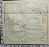Historique Carte Bataille Plan + Texte ~ Peloponnesian Guerre Grec Athens 434 -