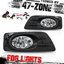 Stealth For 2006-2007 Honda Accord 4 Door Chrome Housing Clear Lens Fog Lights