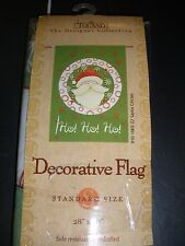 "New Toland Decorative Flag Santa Clause Circles Ho Ho Ho 28"" X 40"""